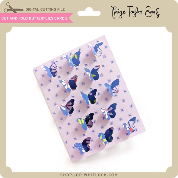 Cut and Fold Butterflies Card 3