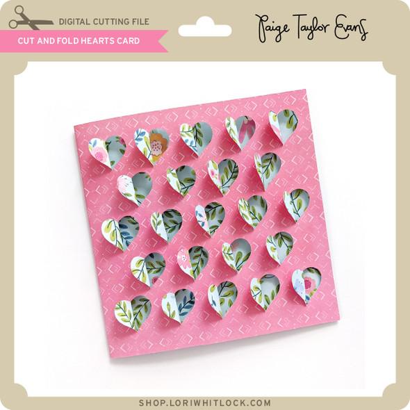 Cut and Fold Hearts Card