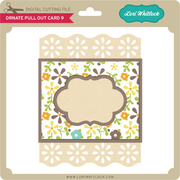 Ornate Pull Out Card 9
