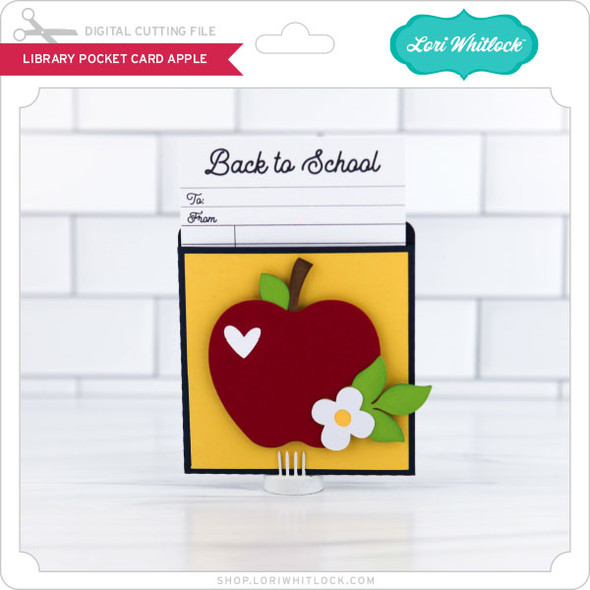 LIbrary Pocket Card Apple