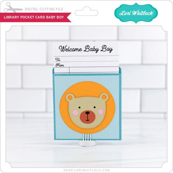 LIbrary Pocket Card Baby Boy