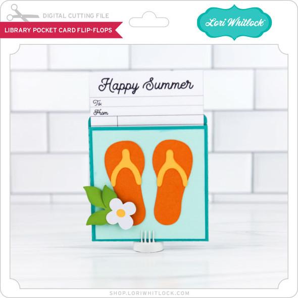 LIbrary Pocket Card Flip Flops