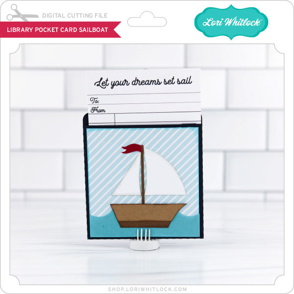 LIbrary Pocket Card Sailboat