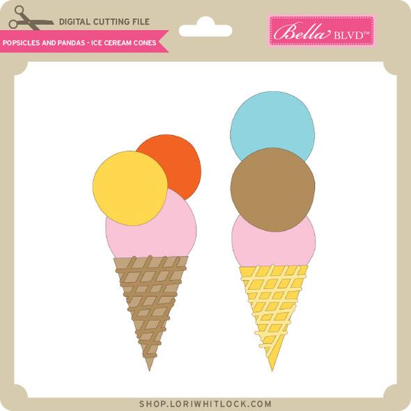 Popsicles and Pandas - Ice Cream Cones