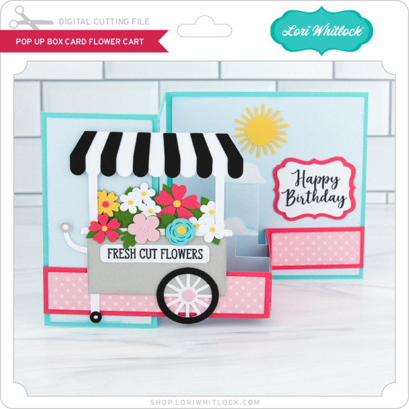 Pop Up Box Card Flower Cart