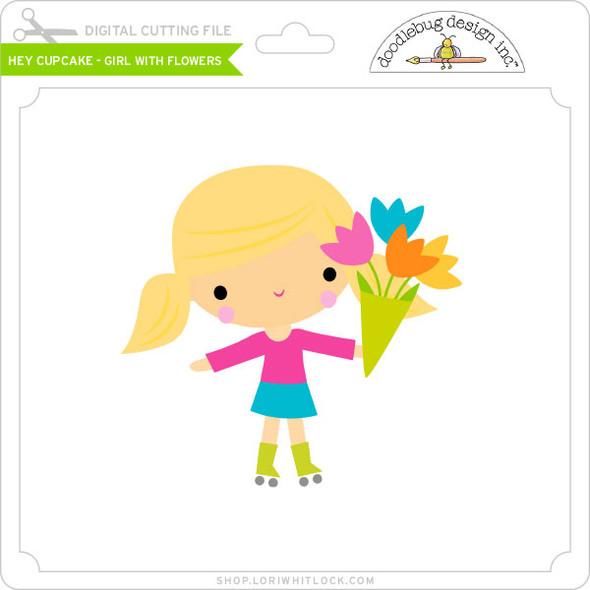 Hey Cupcake - Girl with Flowers