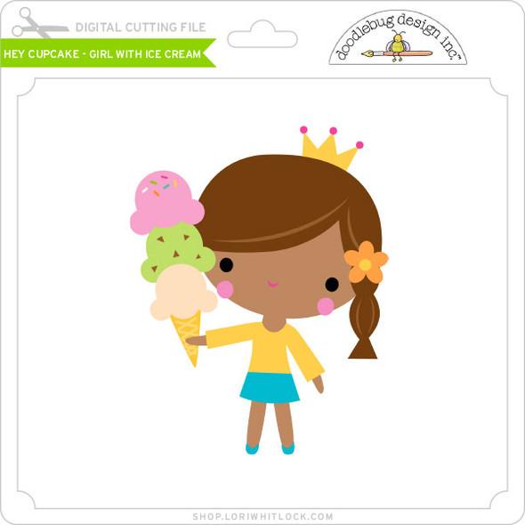 Hey Cupcake - Girl with Ice Cream