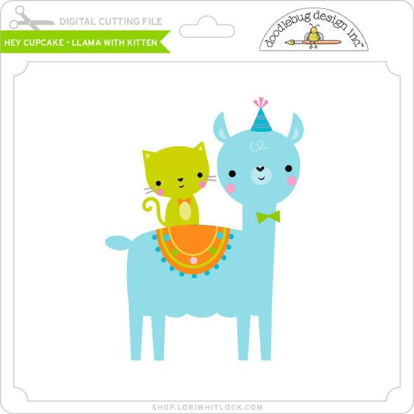 Hey Cupcake - Llama with Kitten