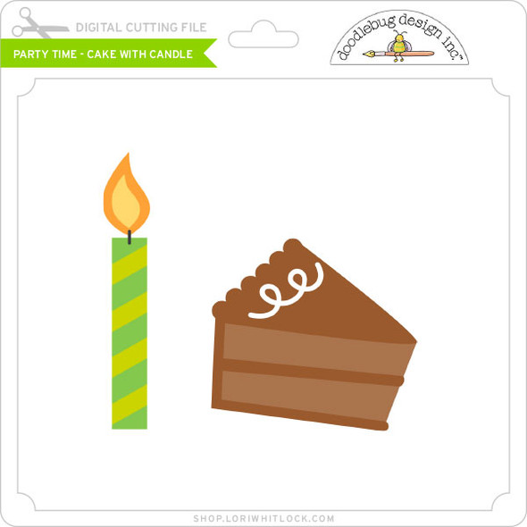 Party Time - Cake with Candle