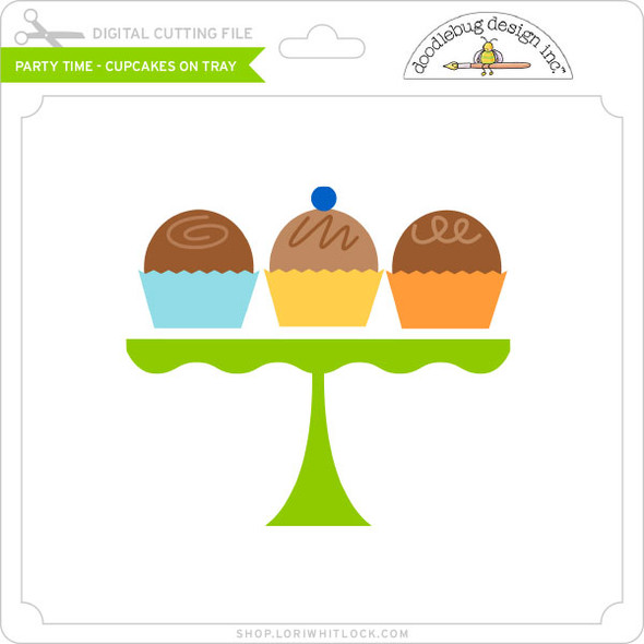 Party Time - Cupcakes on Tray