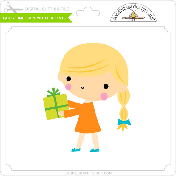 Party Time - Girl with Presents