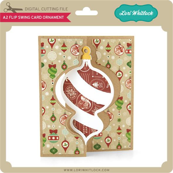 A2 Flip Swing Card Ornament