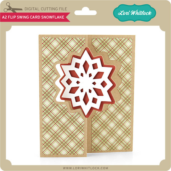 A2 Flip Swing Card Snowflake