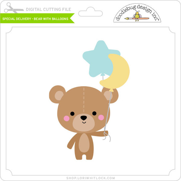 Special Delivery - Bear with Balloons