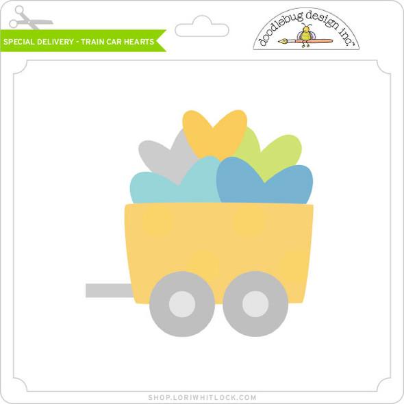 Special Delivery - Train Car Hearts