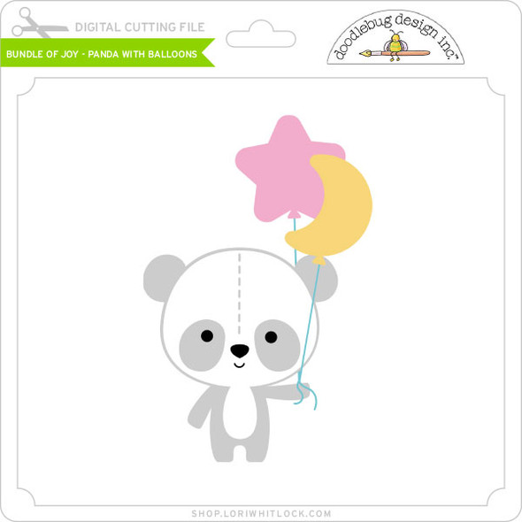 Bundle of Joy - Panda with Balloons