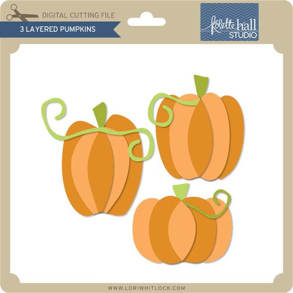 3 Layered Pumpkins