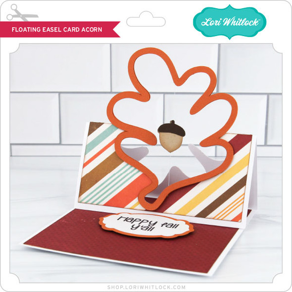 Floating Easel Card Acorn