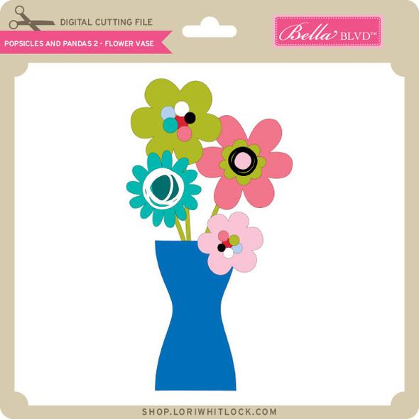 Popsicles and Pandas 2 - Flower Vase