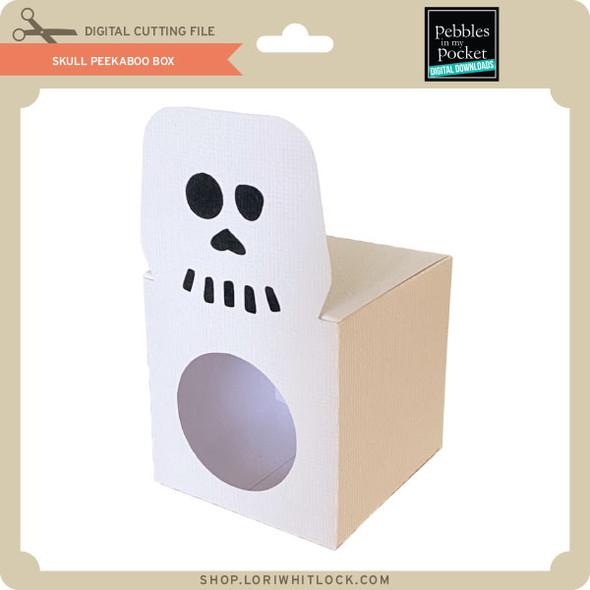 Skull Peek A Boo Box