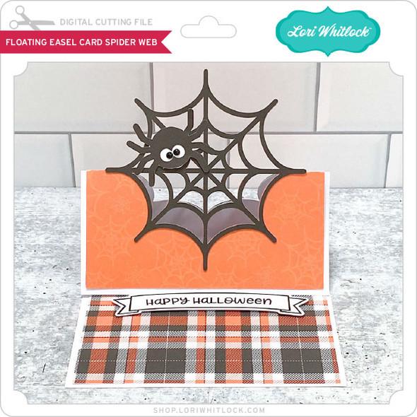 Floating Easel Card Spider Web