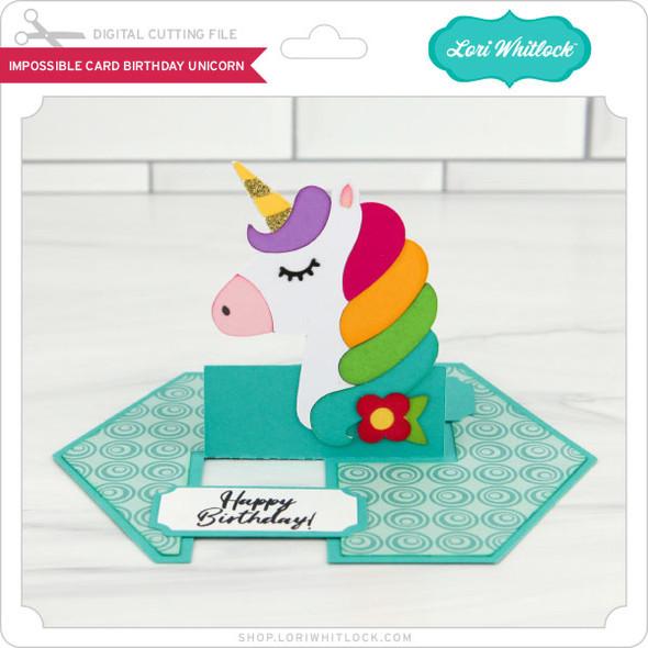 Impossible Card Birthday Unicorn