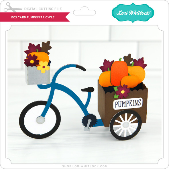 Box Card Pumpkin Tricycle