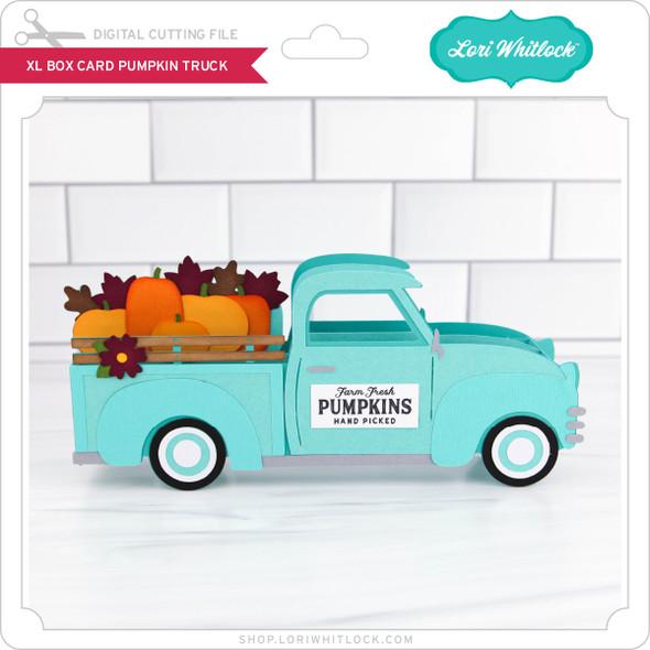 XL Box Card Pumpkin Truck