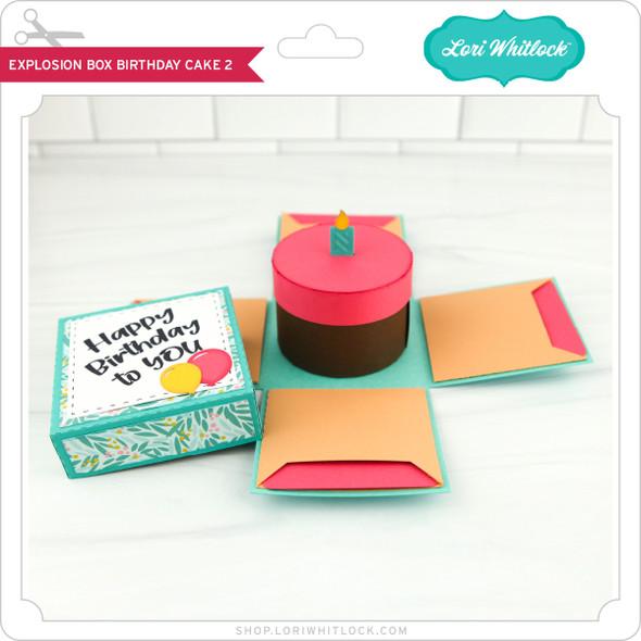 Explosion Box Birthday Cake 2
