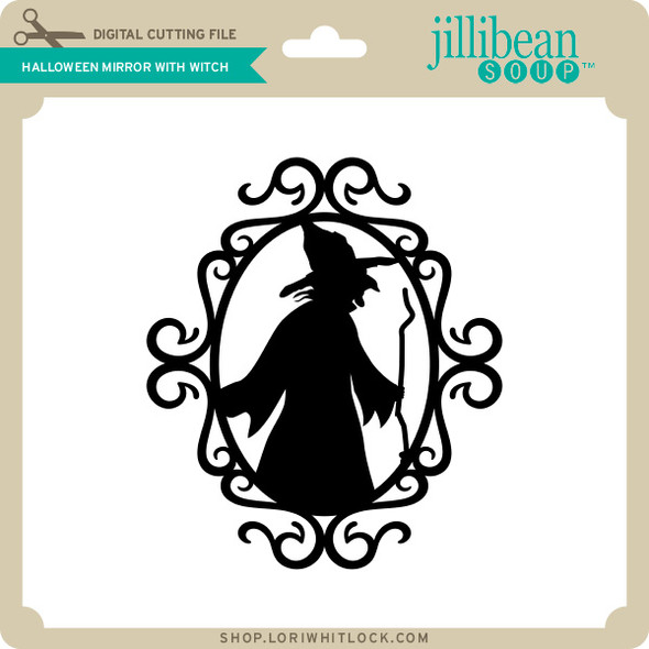 Halloween Mirror with Witch