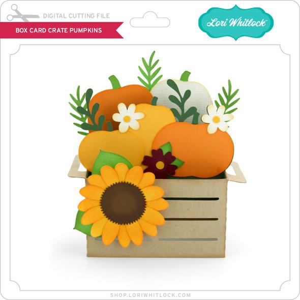 Box Card Crate Pumpkins