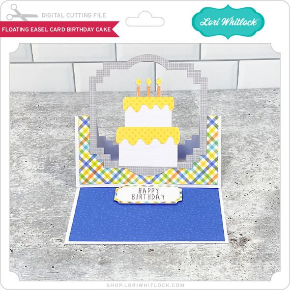 Floating Easel Card Birthday Cake