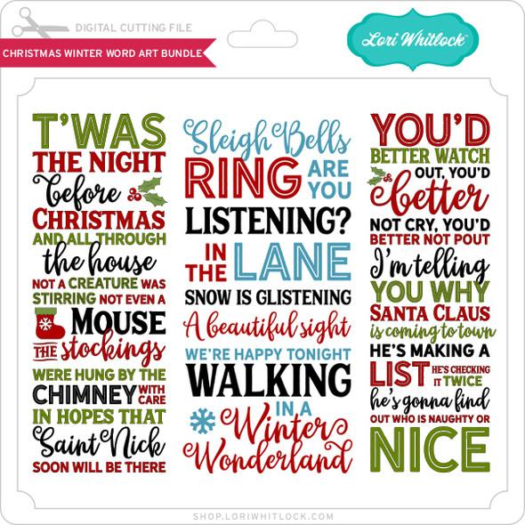 Christmas Winter Word Art Bundle
