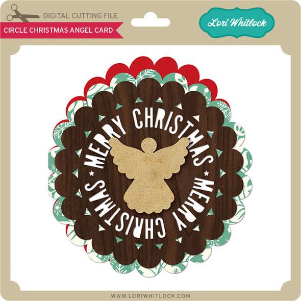 Circle Christmas Angel Card