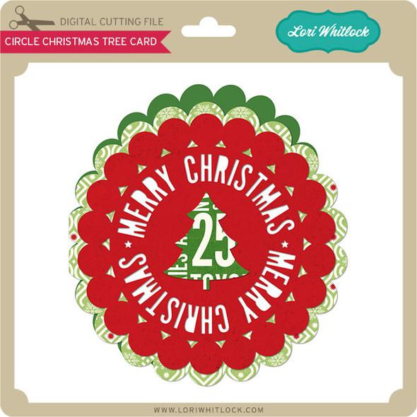 Circle Christmas Tree Card