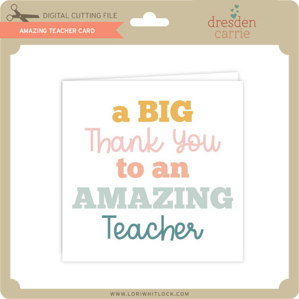 Amazing Teacher Card