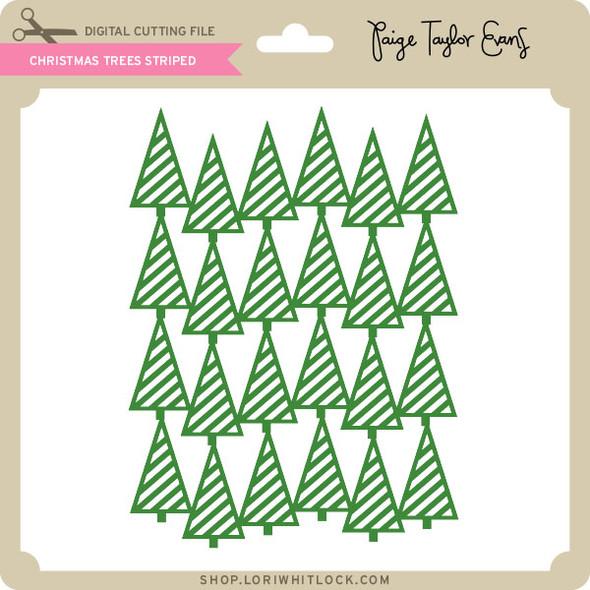 Christmas Trees Striped