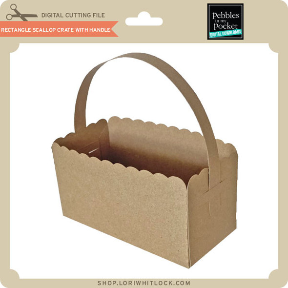 Rectangle Scallop Crate with Handle