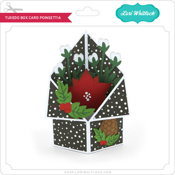 Tuxedo Box Card Poinsettia