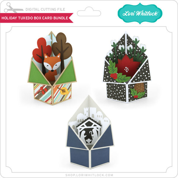 Holiday Tuxedo Box Card Bundle