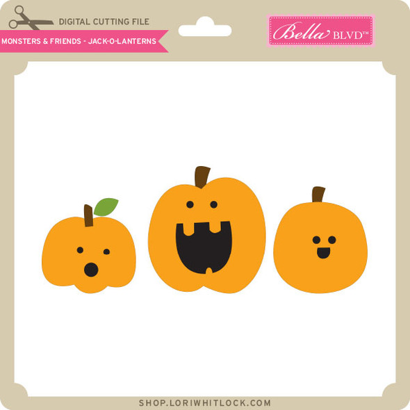 Monsters and Friends - Jack O Lanterns