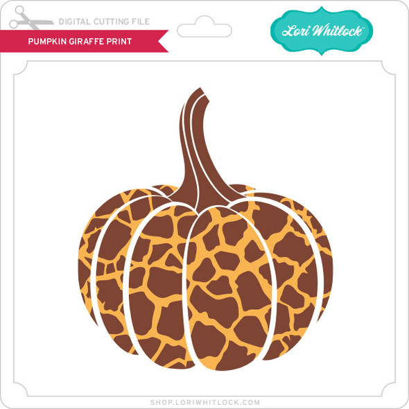 Pumpkin Giraffe Print