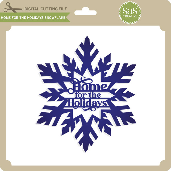 Home for the Holidays Snowflake