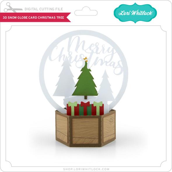3D Snow Globe Card Christmas Tree