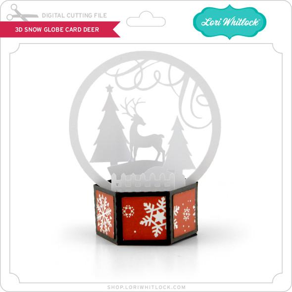 3D Snow Globe Card Deer