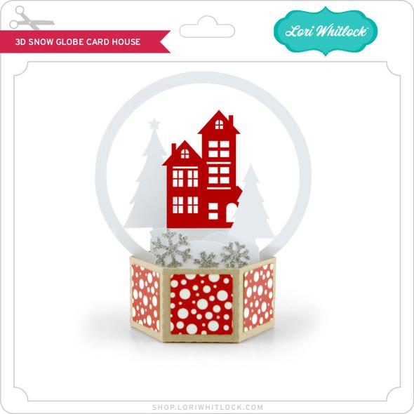 3D Snow Globe Card House