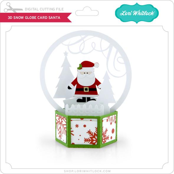 3D Snow Globe Card Santa