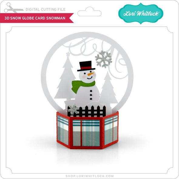 3D Snow Globe Card Snowman