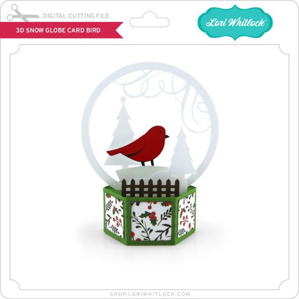 3D Snow Globe Card Bird