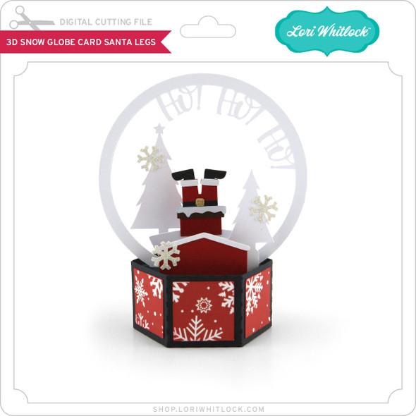 3D Snow Globe Card Santa Legs